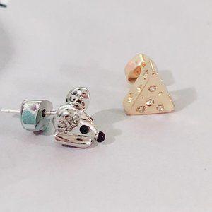 Kate Spade Cute Mouse Asymmetric Earrings